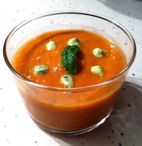soupe minute tomate & basilic