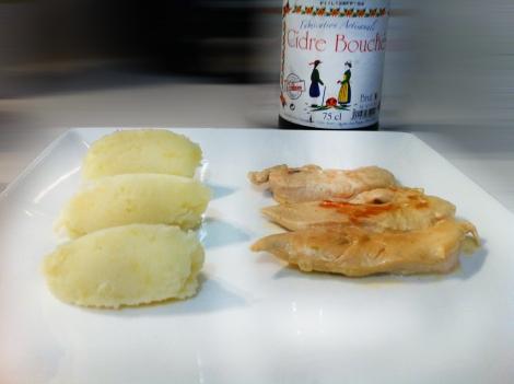 Aiguillettes de poulet au cidre
