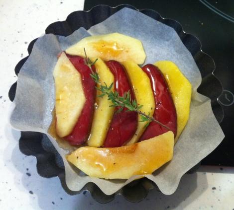 Tarte tatin pomme magret avant cuisson 2