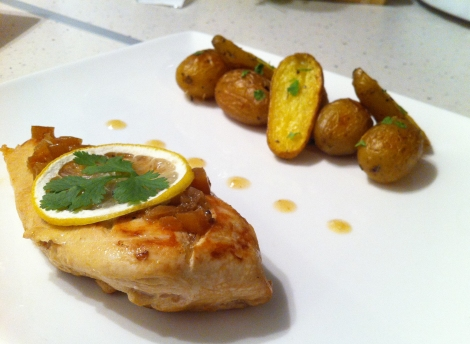 escalopes poulet au citron confit