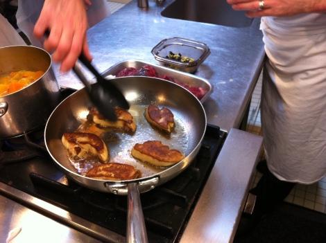 escalopes de foie gras poêlée Rossini