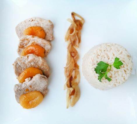 filet mignon porc aux abricots
