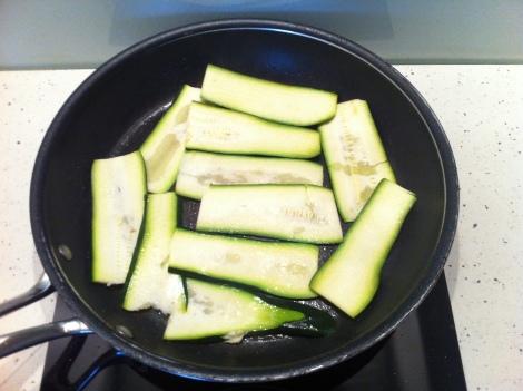 courgettes, lasagnes végétariennes