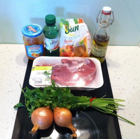 Ingrédients filet mignon porc aux abricots