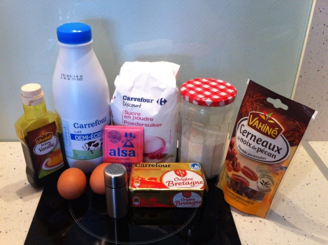 INGREDIENTS MUFFINS PECAN