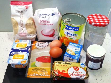 ingrédients tarte abricots top chef