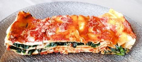lasagnes épinard tomates, ricotta