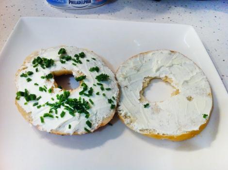 Montage bagel saumon