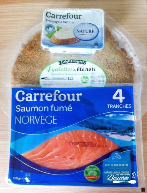 ingrédients roulés saumon