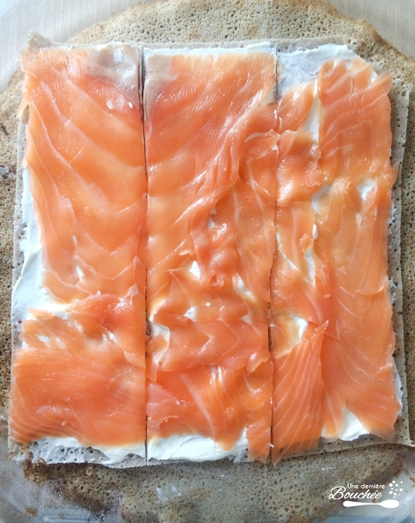 roulés saumon et fromage