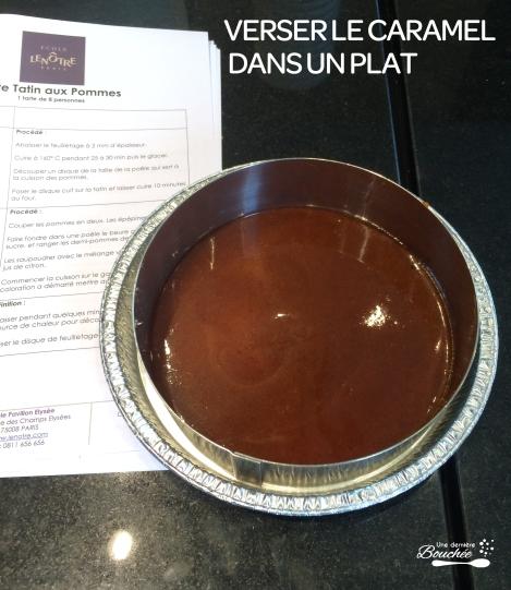 verser le caramel dans un plat